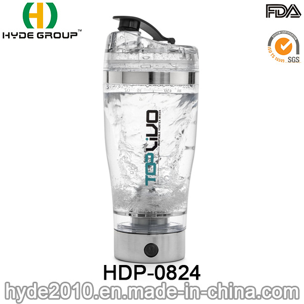 2017 Hot Sale Popular USB Plastic Electric Shaker Water Bottle, BPA Free Electric Protein Shaker Bottle (HDP-0824)