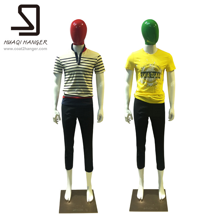 Special Fiberglass Mannequins, Male Mannequins, Red, Green Head