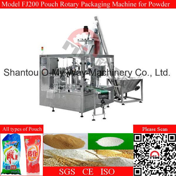 Zipper Pouch Detergent Powder Rotary Packing Machine