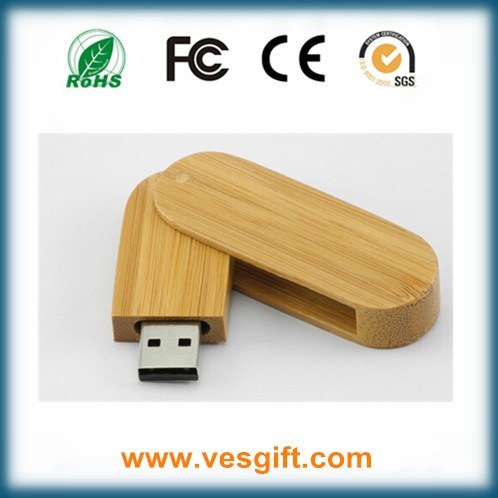 Cute Round Shape Wooden USB Flash Memory Stick