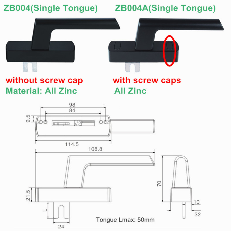 Single Tongue Multi Points Lock Handle for Window (ZB004)