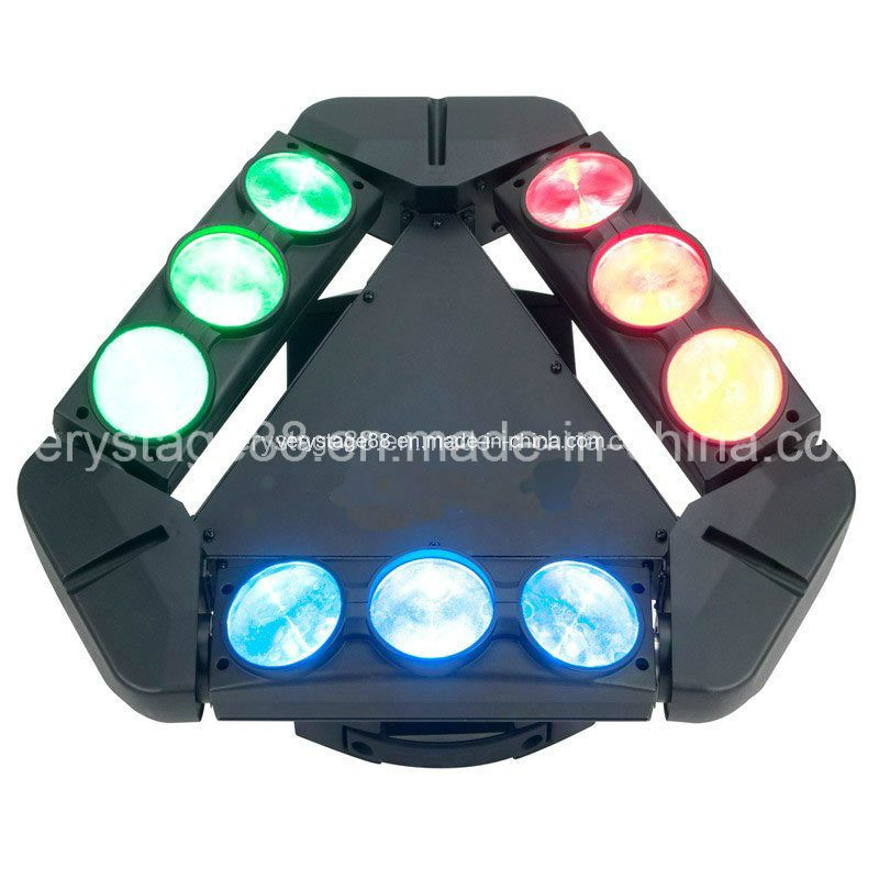 Adj Kaos 3-Head 9PC 10W LED Spider Sharpy Beam Moving Head