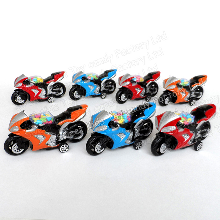 Pull Back Motorcycle Candy Toy (131001)