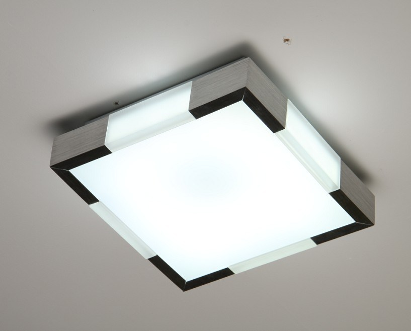 China Acrylic Square Fluorescent Ceiling Light Aluminum