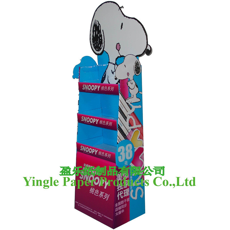 100% New Cardboard Display, Paper Pop Display, Floor Display, Cardboard Display Stand, Display Shelf, Corrugated Display, Sweets Display (FD-001YL)