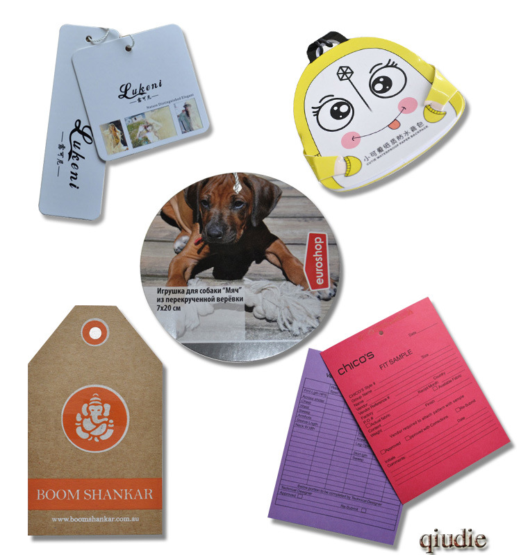 Paper Card Garment Accessories with Custom Printing