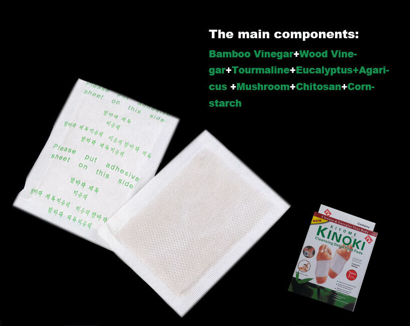 Kiyome Kinpki Detox Foot Pads Ginger Salt Constipation Treatment Detox Foot Patch