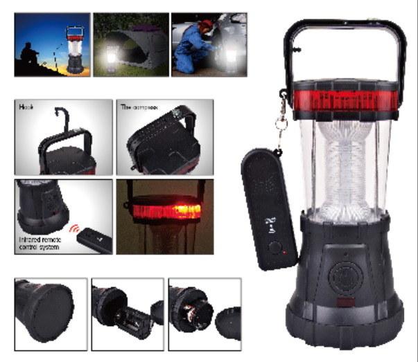 LED Remote Control Lantern Camping Lantern Handle Lantern