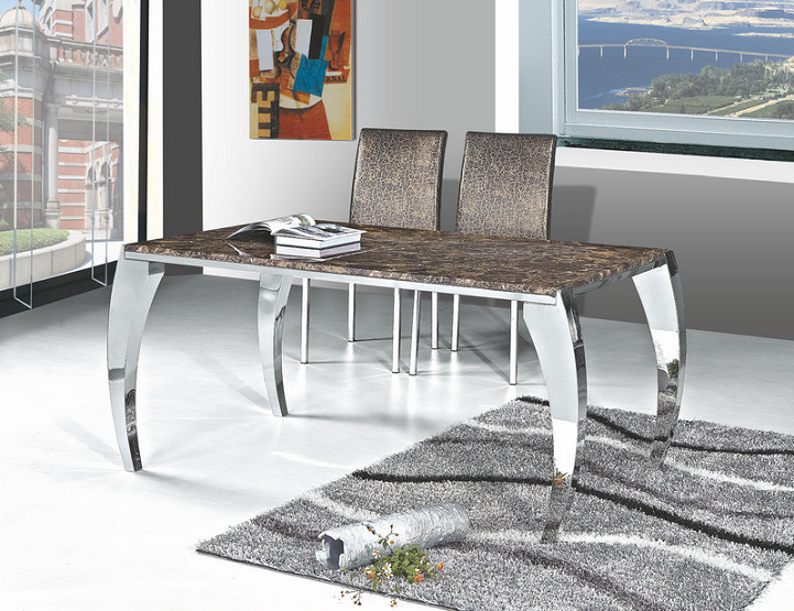 Design contemporary ideas marble top dining table for Modern marble dining table