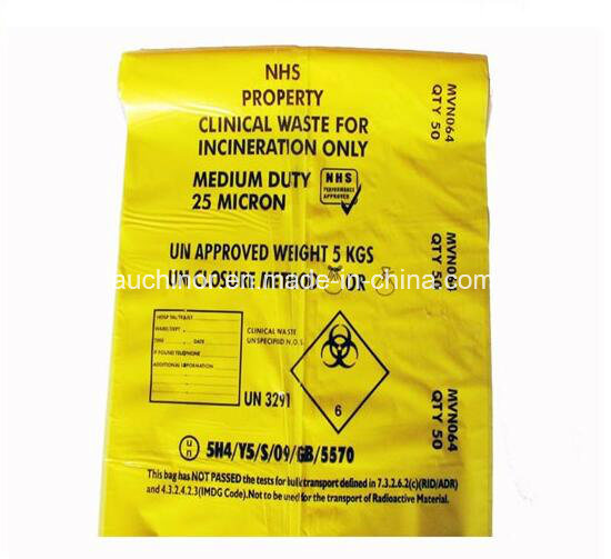 Heavy Duty Clinic Waste Bag for Biohazard Medial Waste