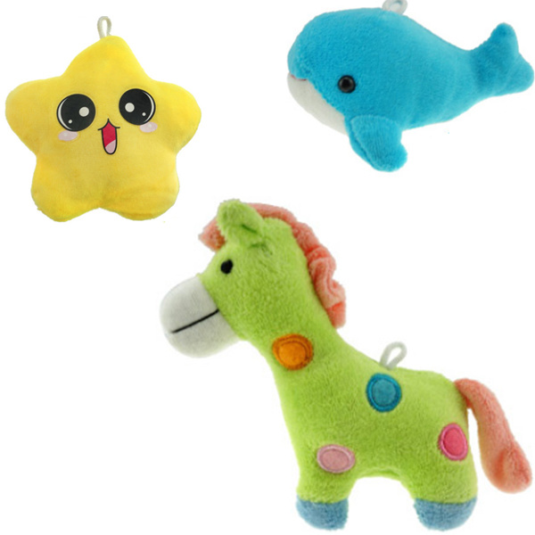 Educational Cartoon Toy 9 in 1 Plush Toy Baby Rattle with Music and Light (10220294)