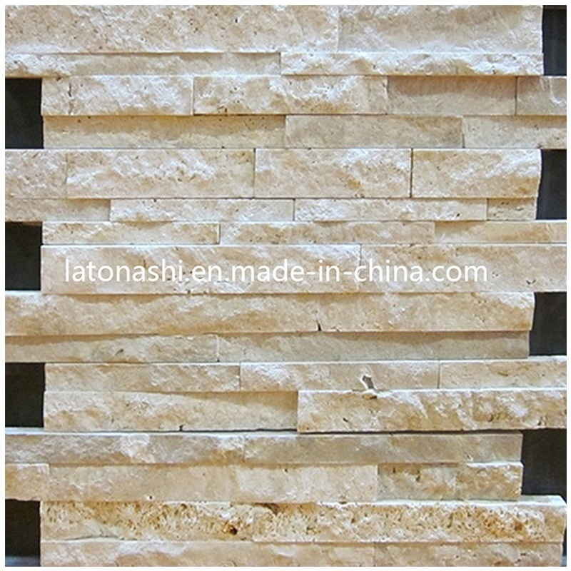 China White Travertine Stacked Stone Veneer Ledge Stone