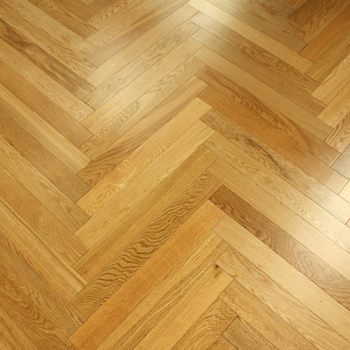 Herringbone Antique Brushed Natural Oak Engineered Wood Flooring