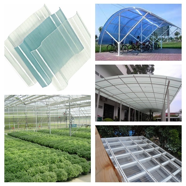 Skylight, Canopy, Greenhouse Translucent PVC Roof Tile
