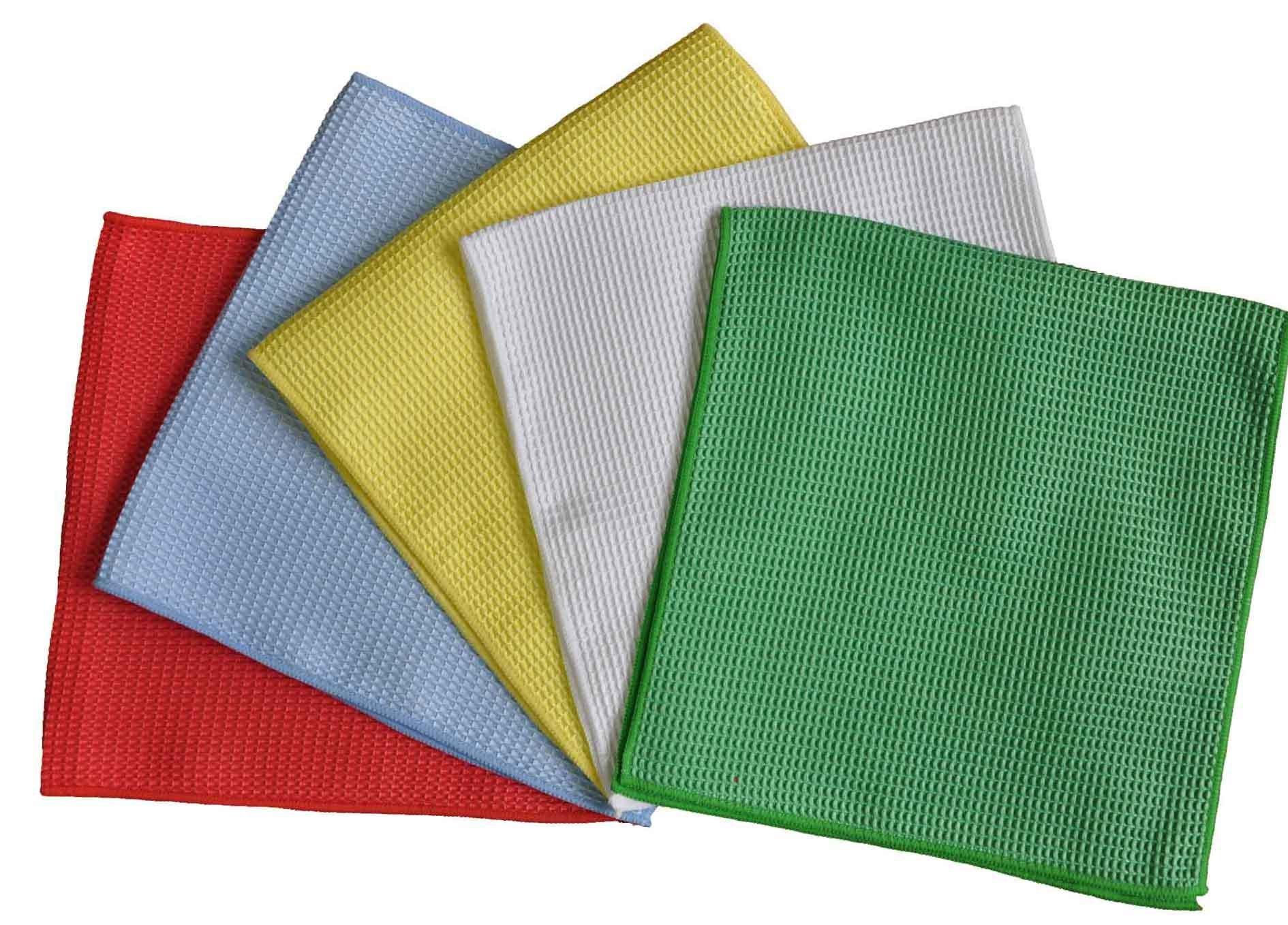 Drying Towel Microfiber Waffle Weave Car Polishing Cloth (YYMC-320W)