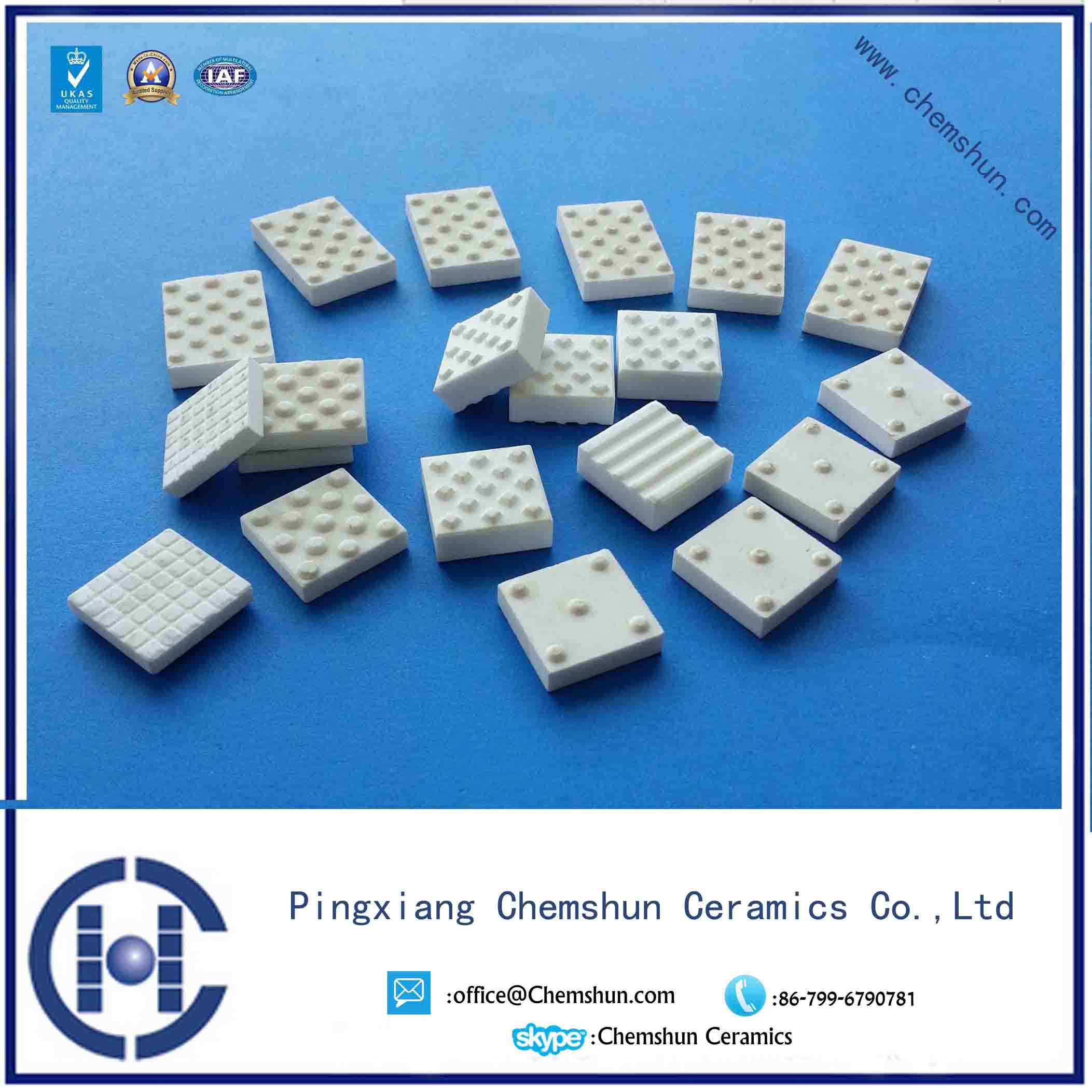 Abrasion Resistant Square Ceramic Tile for Pulley Lagging with Dimples
