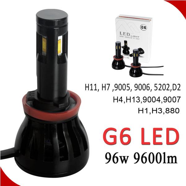 G5 4000lm LED Car Light H7 5202 H11 9005 9006 H13 9004 9007 H4 LED Car Light