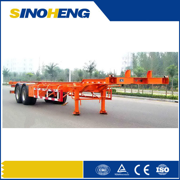 China 3 Axles Flat Bed 40ft Container Trailer