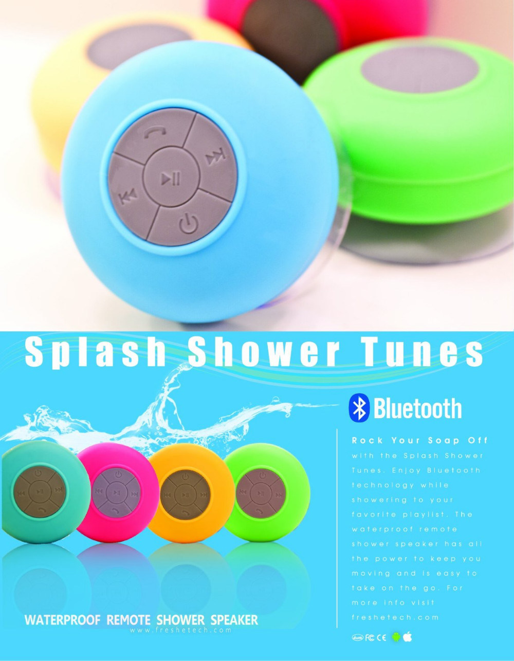 New Arrival Hot Selling Waterproof Ipx3 Wireless Bluetooth Portable Mini Speaker for Cellphone Handsfree Receive Call & Music