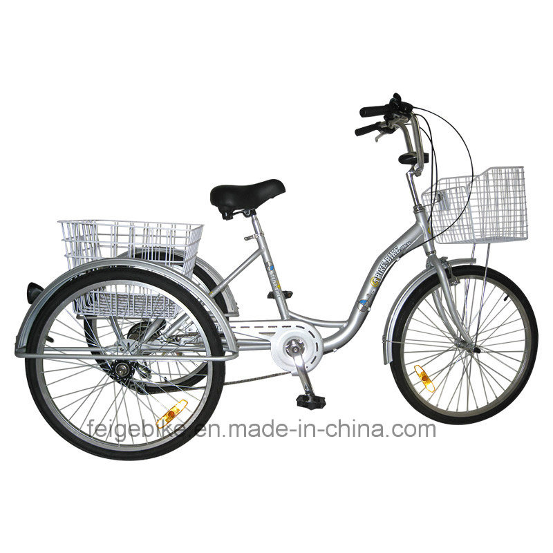 "24"" Shopping Trike Aluminum Alloy Frame Cargo Tricycle (FP-TRI-10)"