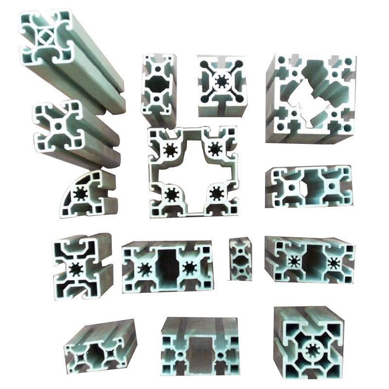 Aluminium/Aluminum Extrusion Section for Modular Automative Line (RAL-577)