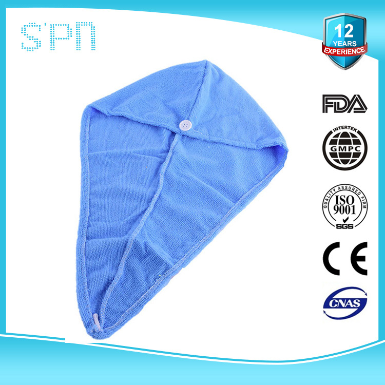 OEM Hot Selling Custom Printed Long Hair Drying Microfiber Cap