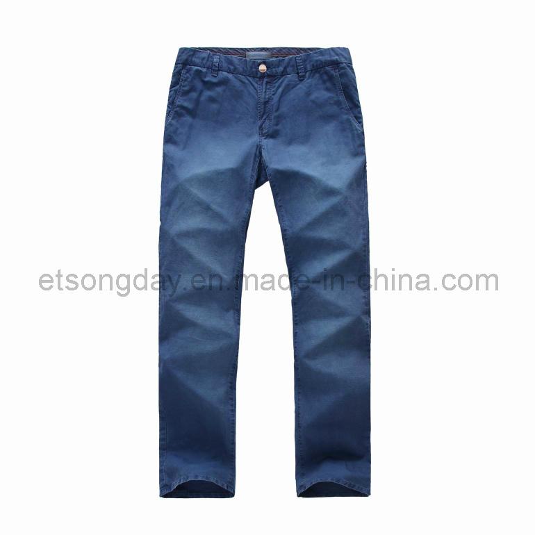 Blue Outwear Linen Cotton Men′s Trousers (APC-LUDO)