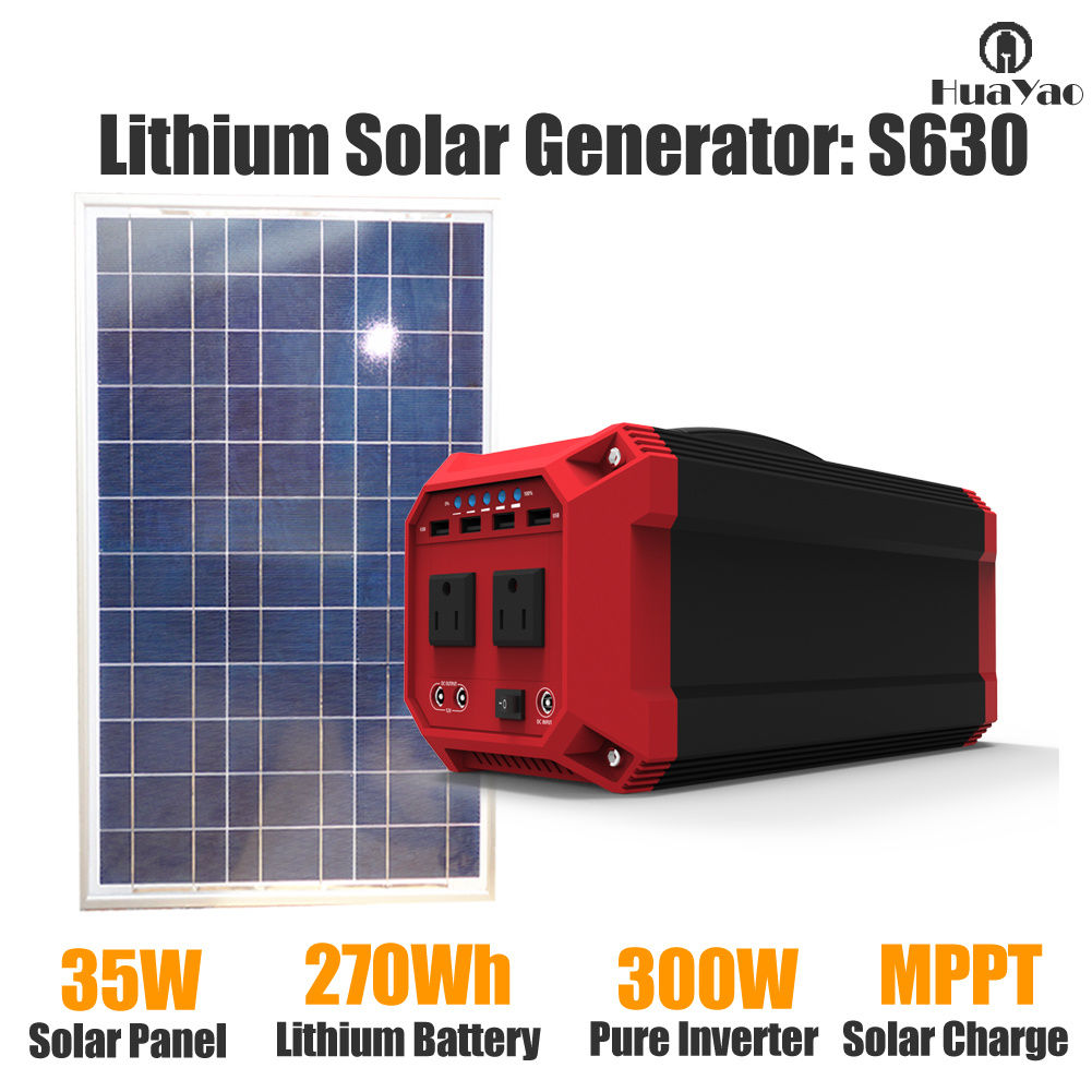 300W/270wh off-Grid System Portable Lithium Power Generator Solar Power Supply