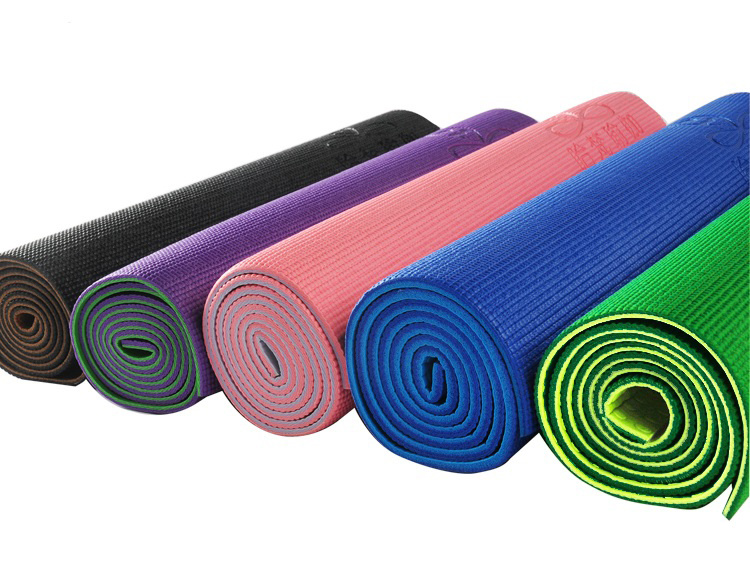Wholesale Eco Friendly Non Slip Double Layers PVC Foam Yoga Mat