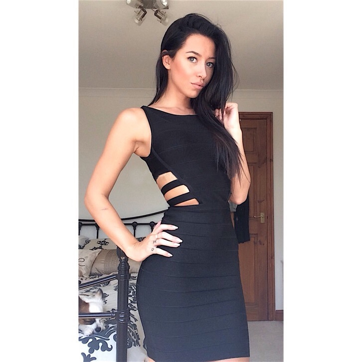 Black Women Casual Bandage Sleeveless Dresses