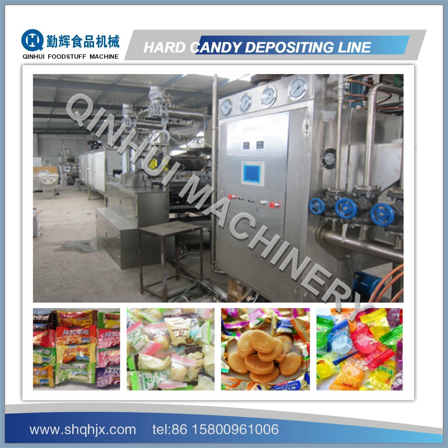 PLC Control&Full Automatic Depositing Machine for Hard Candy