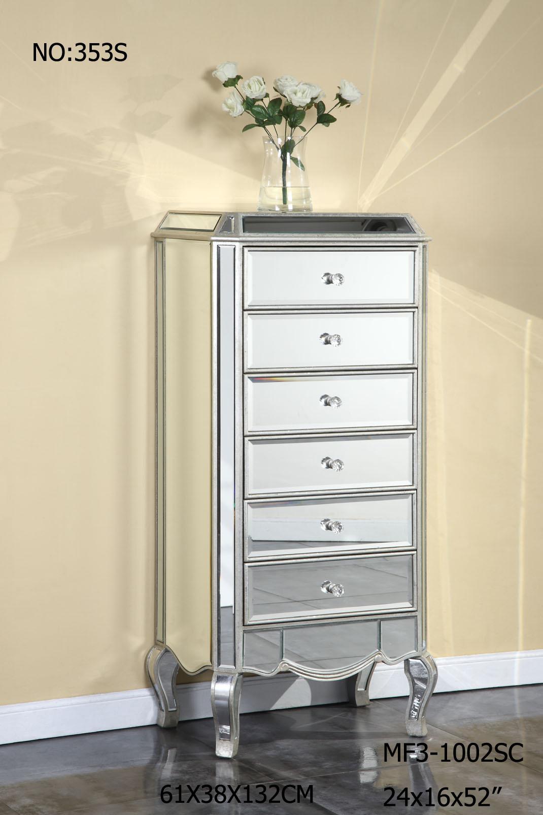 Modern 6 Drawer Mirrored Furniture Chest