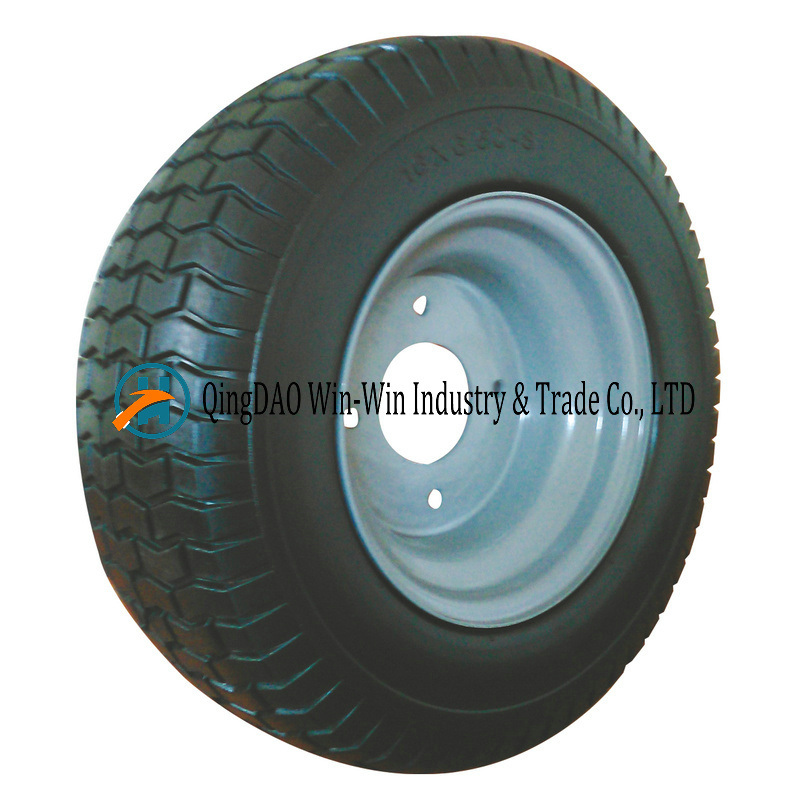 Solid PU Wheel with Spoke Color and Rim (18*8.50-8)