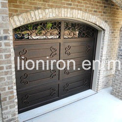 Residential Sectional Iron Garage Doors with Glass