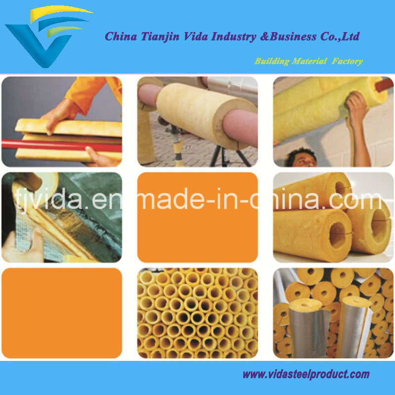 Fiberglass Wool Pipe Insulation Material with Excellent Quality