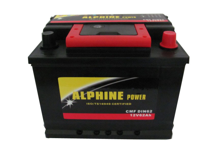 Wet Car Battery/DIN62 12V62ah Mf Auto Battery/ Mf Storage Battery