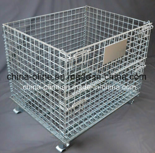 Steel Metal Storage Mesh Container