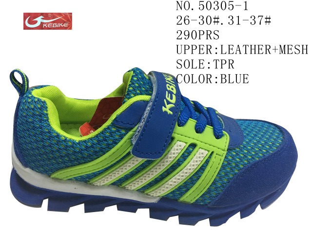 No. 50305 Three Colors Leather Kids Sport Stock Shoes 26-30#. 31-37#