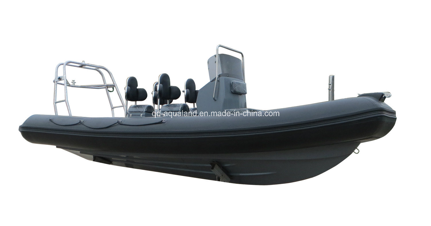 Aqualand 21feet 6.4m High Performance Rigid Inflatable Patrol Boat/Rib Military Boat (rib640t)