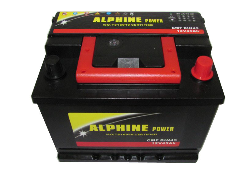 DIN45 12V45ah Mf Car Battery/ DIN Auto Battery/ Mf Storage Battery