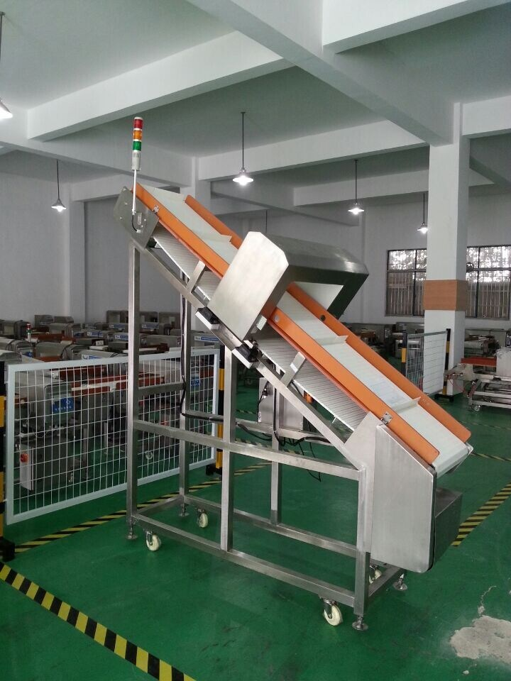 Auto Conveyor Metal Detector (inclined model with special belt)