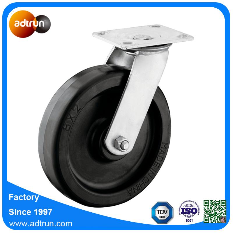Heavy Duty 8 Inch Swivel Rubber Wheel Casters with Roller Bearing