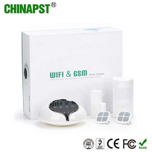 iPhone & Android APP Wireless WiFi Security Home Alarm System (PST-S1-WG)