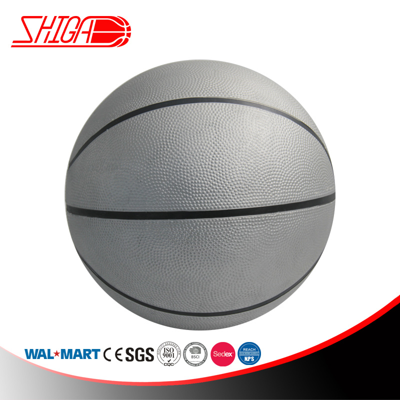 Silver Rubber Basketball High Quality