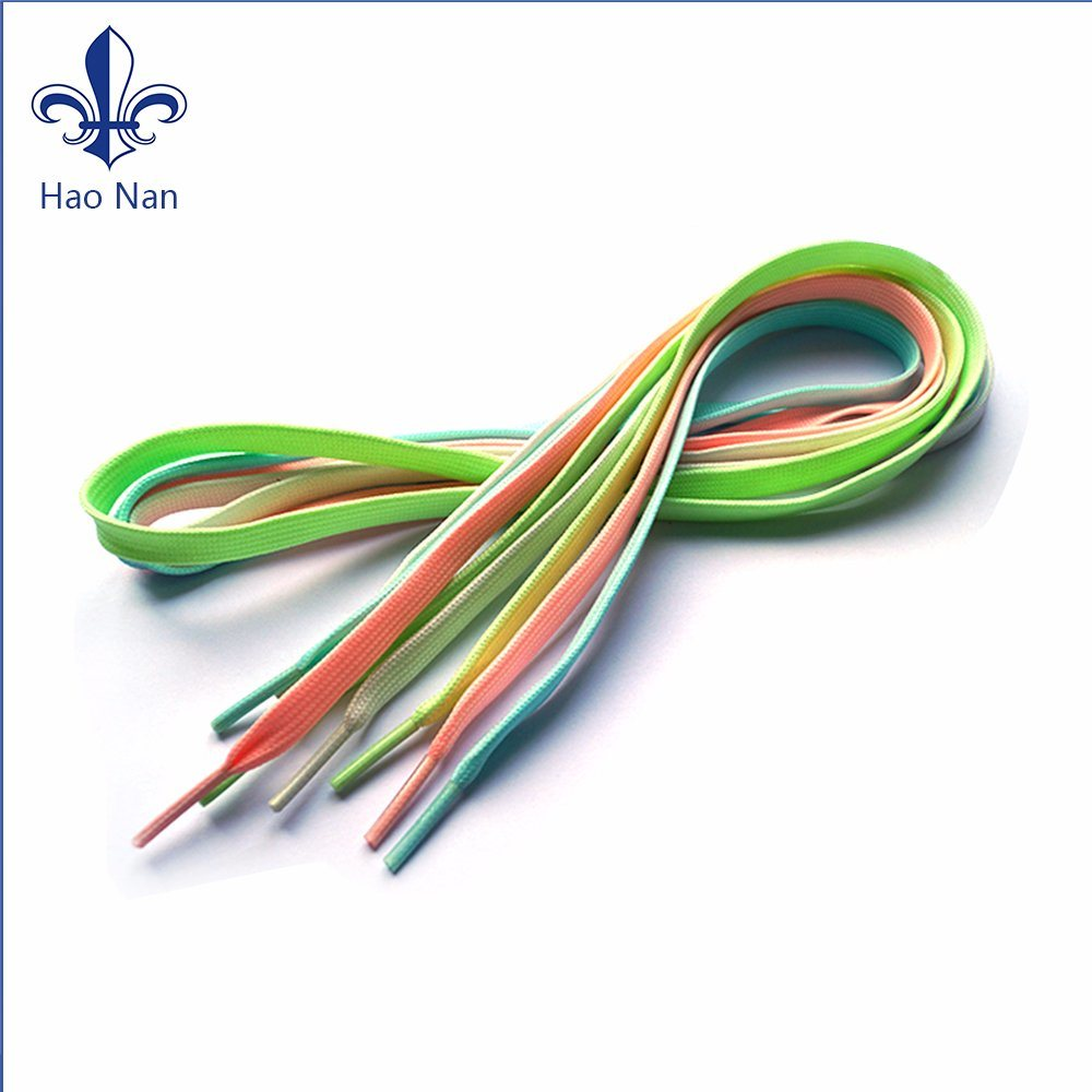 Promotional Gifts Colorful Fashion Polyester Flat Shoelace for Wholesale