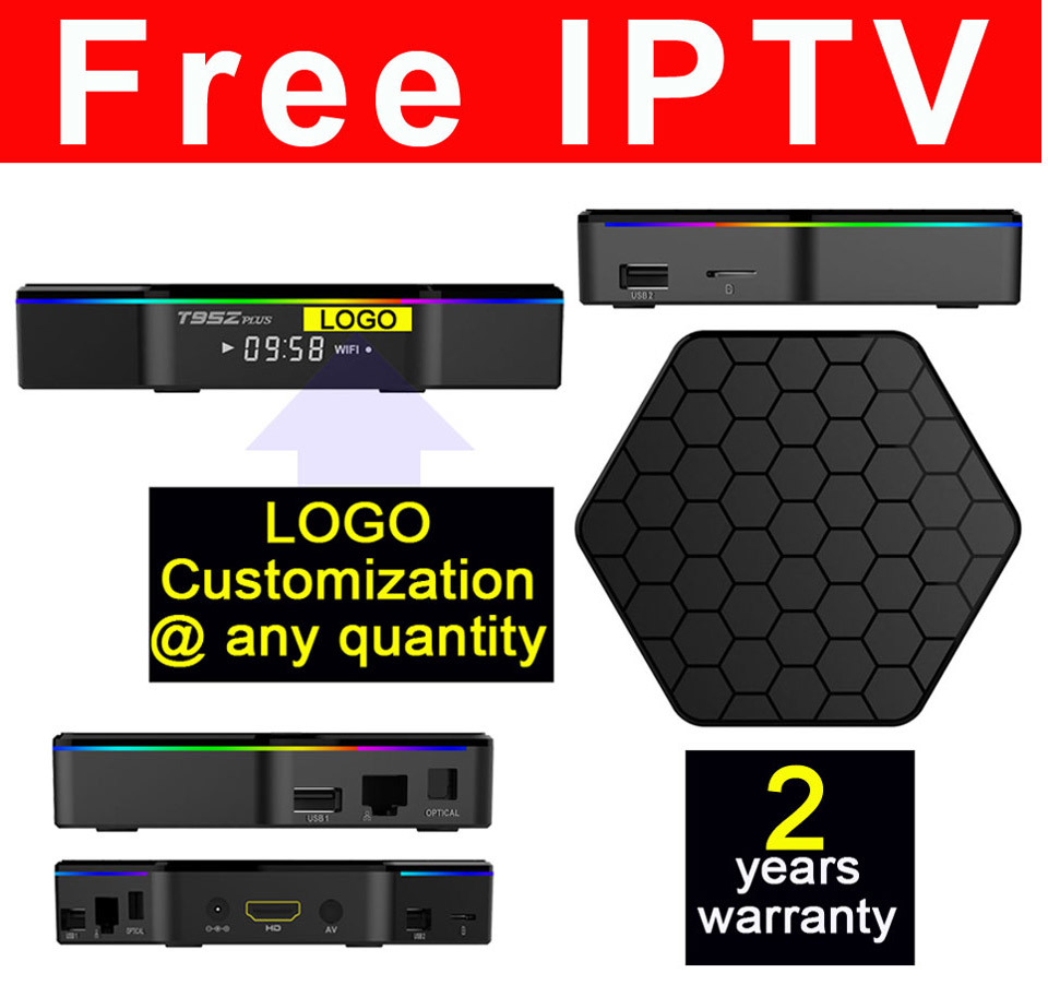 Custom Made Free IPTV Streaming Android TV Box S912 Octa Core T95zplus 2GB/16GB
