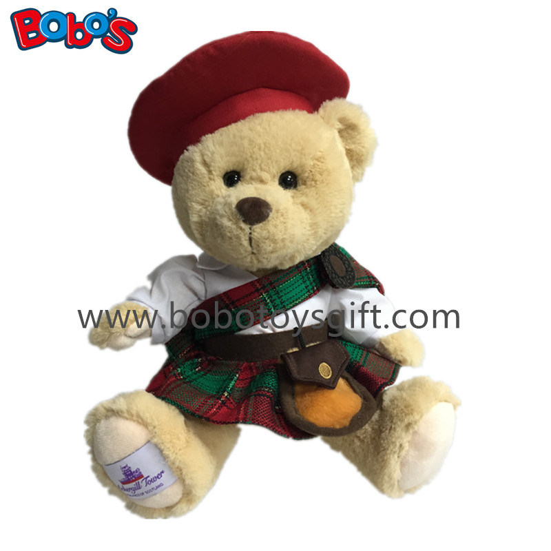 Custom Gift Toy Soft Scottish Teddy Bear Toy
