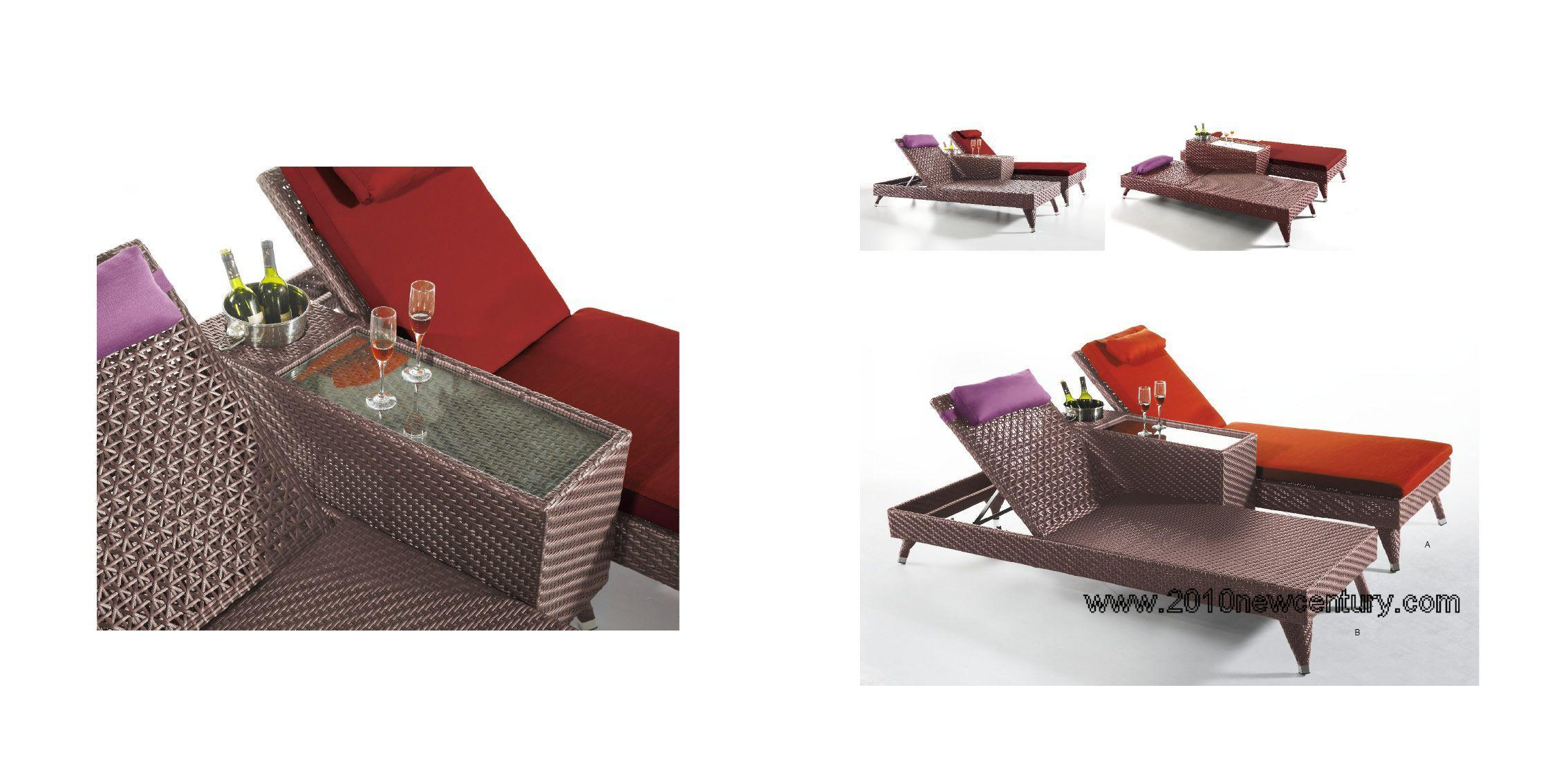 Rattan chaise longue di outdoor furniture 5021 rattan for Mobilia in inglese