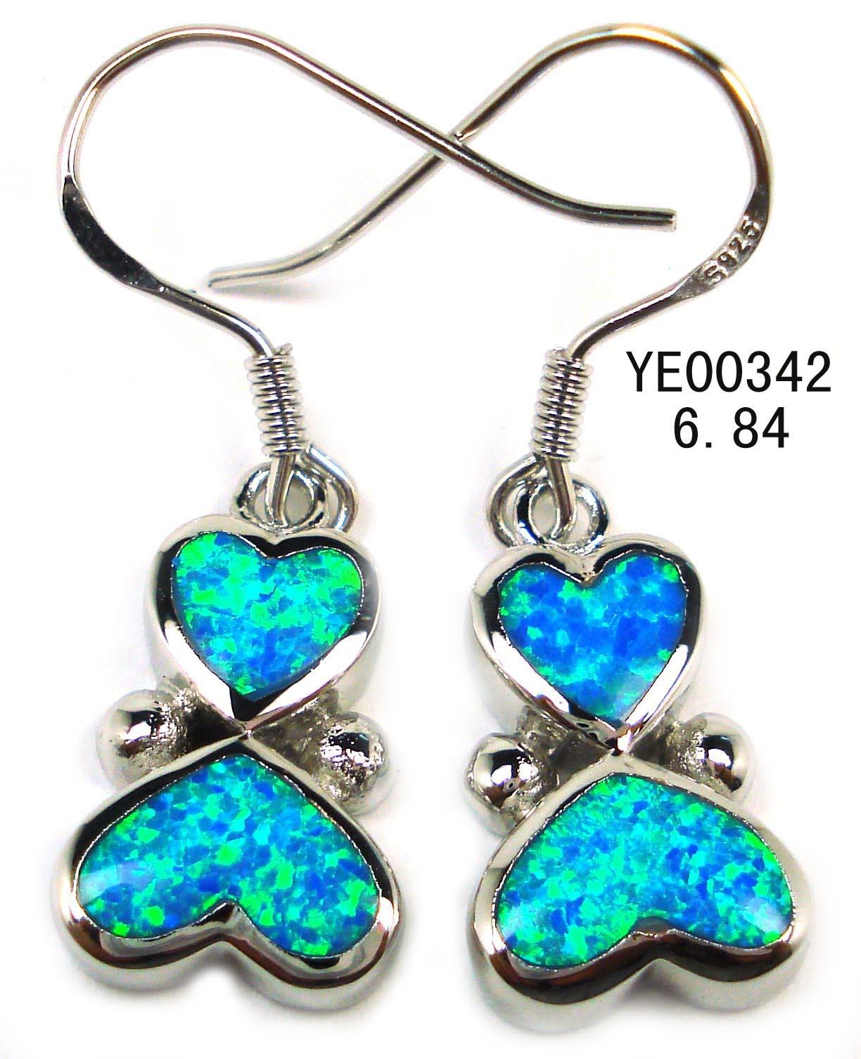 Opal Earring Silver Jewelry (YE00036)