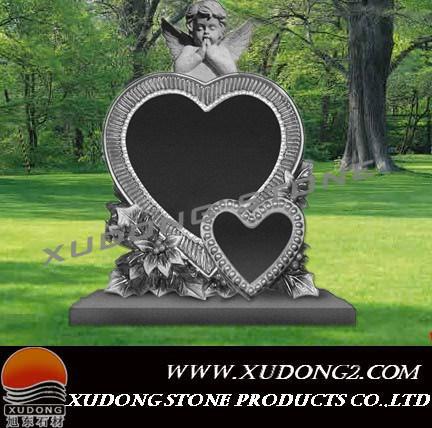China Double Heart Headstone Xd9 China Black Double